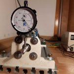 Pasivní magnetické ložisko, měření házení